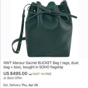 Manaur Gavriel Bucket Bag in Soft Tumble Leather